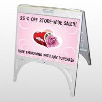 Pinkrose Hidden Ring 399 A Frame Sign