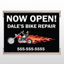 Harley Flames 323 Track Banner