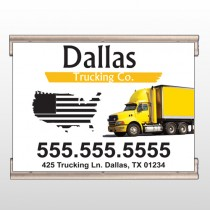 Yellow Truck 296 Track Banner