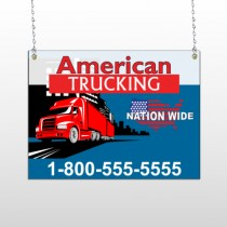 American Truck 295 Window Sign