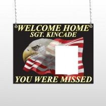 Eagle Flag 307 Window Sign
