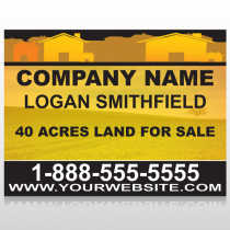 Yellow Land & Housing 861 Site Sign