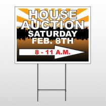 Auction Right Arrow 717 Wire Frame Sign