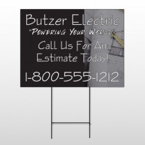 Black And Book 217 Wire Frame Sign