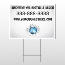 Business Global 438 Wire Frame Sign