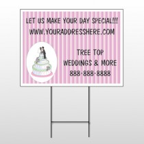 Cake Topper 412 Wire Frame Sign