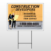 Contractors 645 Wire Frame Sign