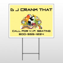 DJ Crank Night 369 Wire Frame Sign