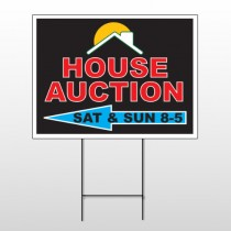 Auction Left Arrow 728 Wire Frame Sign