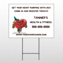 Running Heart 401 Wire Frame Sign