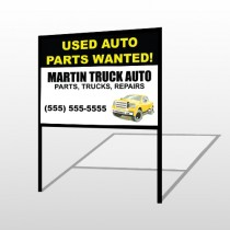 Black & Yellow Truck 326 H-Frame Sign