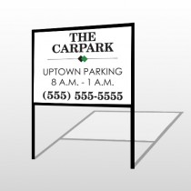 Car Park 122 H Frame Sign