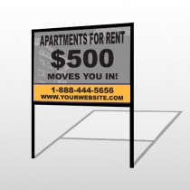 Gray Buildings 866 H-Frame Sign