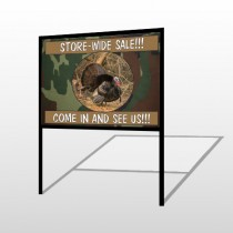 Hunt Turkey 409 H Frame Sign