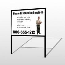 Inspection 244 H-Frame Sign