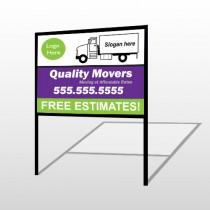 Moving Truck 293 H Frame Sign
