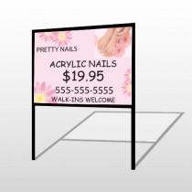 Nail Salon 291 H Frame Sign