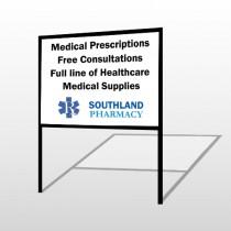 Pharmacy 335 H Frame Sign