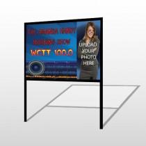 Amp Morning Show 439 H Frame Sign