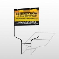 Yellow Land & Housing 861 Round Rod Sign