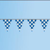 Pennant Blue, White, Checkered 100' String