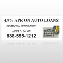 Auto Loan 173 Site Sign