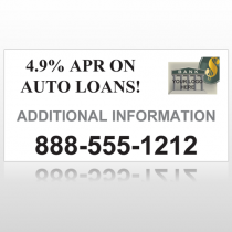 Auto Loan 155 Site Sign