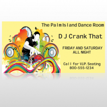 DJ Crank Night 369 Site Sign