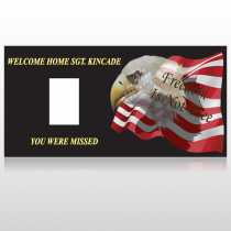 Eagle Flag 307 Custom Sign