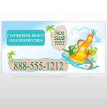 Palm Island Pool 534 Site Sign