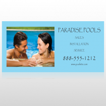 Paradise Pool 529 Sign