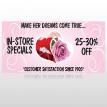 Pink Rose Hide Ring 400 Custom Sign