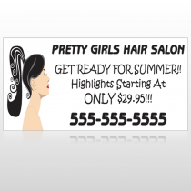Pretty Girl Hair 290 Custom Sign