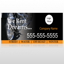Rent Dreams 109 Custom Sign