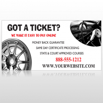 Steering Wheel 154 Site Sign