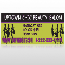 Uptown Salon 642 Site Sign