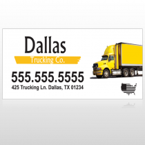 Yellow Truck 296 Site Sign