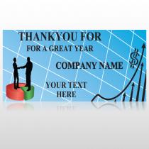 Pie Graph Arrows 05 Custom Sign
