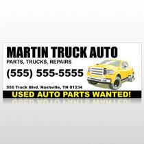 Black & Yellow Truck 117 Banner