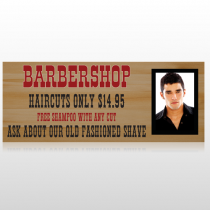 Barbershop Cuts 287 Custom Banner