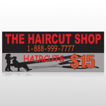Haircut Scissor 644 Custom Banner
