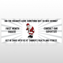 Health Santa 402 Custom Banner