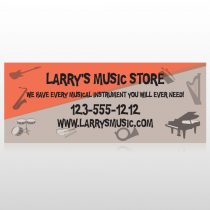 Larry Music Store 372 Custom Banner