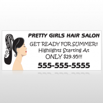 Pretty Girl Hair 290 Custom Banner