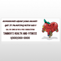 Running Heart 401 Custom Banner