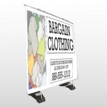 Bargain Bin 532 Exterior Pocket Banner Stand