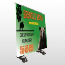 Bear Zoo 302 Exterior Pocket Banner Stand