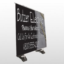 Black and Book 217 Exterior Pocket Banner Stand