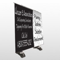 Black Planning 218 Exterior Pocket Banner Stand