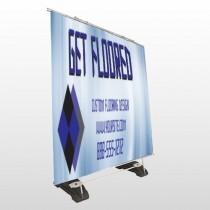 Blue Checker 249 Exterior Pocket Banner Stand